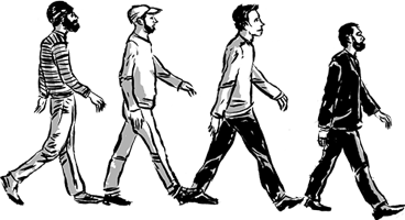 Men Walking